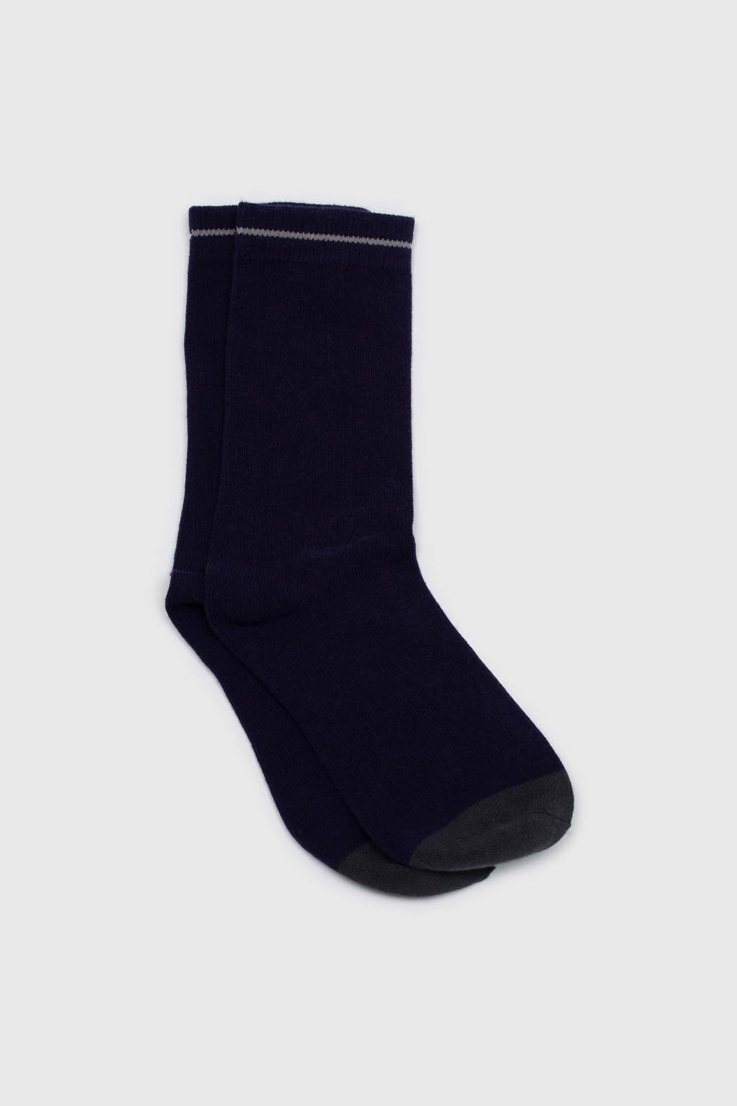 Navy and charcoal colorblock long socks1sx