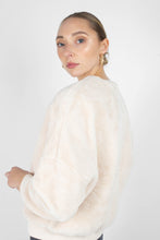 Load image into Gallery viewer, Ivory thick soft fuzzy oversized sweatshirt5
