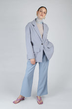 Load image into Gallery viewer, 22623_Baby blue sheer wrinkled long sleeved top_MFFBA1