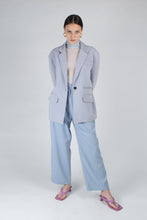 Load image into Gallery viewer, 22623_Baby blue sheer wrinkled long sleeved top_MFFBA2