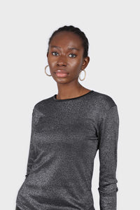 Charcoal sheer glitter long sleeved top1sx