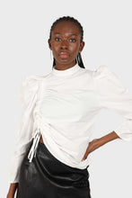 Load image into Gallery viewer, Ivory Side shirring long sleeved top1sx