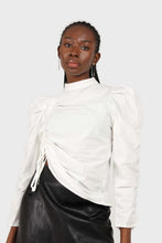 Load image into Gallery viewer, Ivory Side shirring long sleeved top2