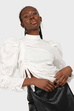 Load image into Gallery viewer, Ivory Side shirring long sleeved top3