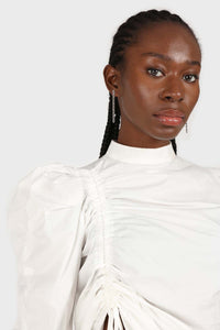 Ivory Side shirring long sleeved top4
