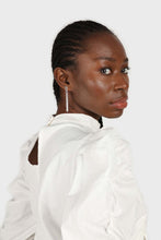 Load image into Gallery viewer, Ivory Side shirring long sleeved top6