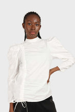 Load image into Gallery viewer, Ivory Side shirring long sleeved top7