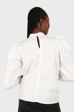 Load image into Gallery viewer, Ivory Side shirring long sleeved top8