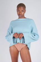 Load image into Gallery viewer, Mint green ribbed long sleeved jumper2