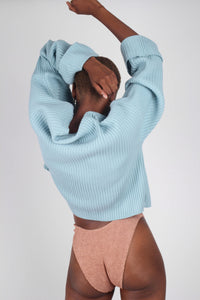 Mint green ribbed long sleeved jumper7