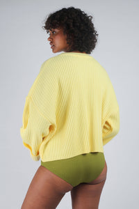 Yellow ribbed long sleeved jumper_MCBBA1