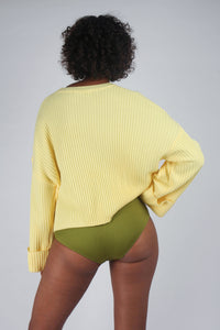 Yellow ribbed long sleeved jumper_MCBBA2