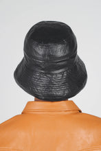 Load image into Gallery viewer, Black vinyl bucket hat4