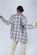 Load image into Gallery viewer, Blue and yellow checked oversized blazer_6