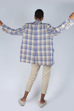 Load image into Gallery viewer, Blue and yellow checked oversized blazer_11
