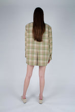Load image into Gallery viewer, 22729_Green and yellow checked oversized blazer_MFBBA1