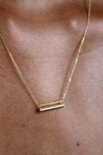 Load image into Gallery viewer, Charm necklace - Gold smooth bar pendant / 50cm_4