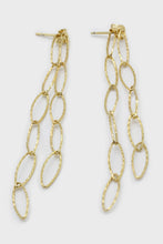 Load image into Gallery viewer, Gold chain links drop earrings1