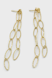 Gold chain links drop earrings1