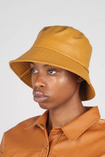 Load image into Gallery viewer, Mustard vegan leather oversized bucket hat2