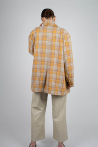 22843_Orange and yellow checked oversized blazer_MFBBA1