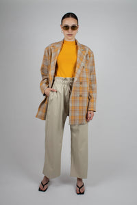 22843_Orange and yellow checked oversized blazer_MFFBA1