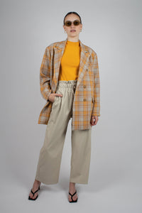 22843_Orange and yellow checked oversized blazer_MFFBA2