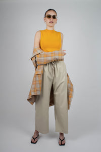 22843_Orange and yellow checked oversized blazer_MSTBA1