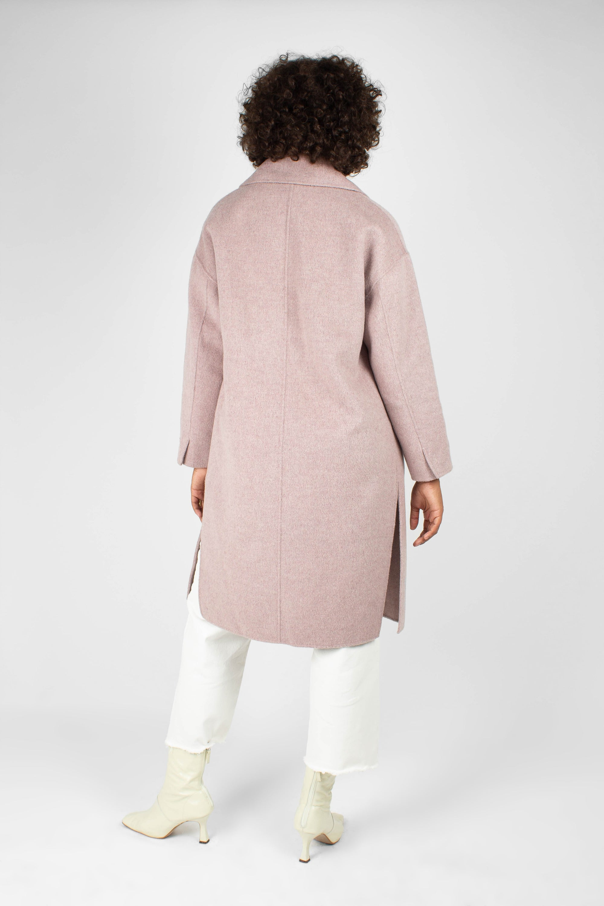 Lilac single breasted oversized wool coat2