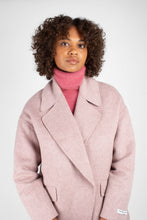 Load image into Gallery viewer, Lilac single breasted oversized wool coat4