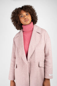 Lilac single breasted oversized wool coat5