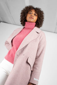 Lilac single breasted oversized wool coat6