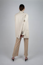 Load image into Gallery viewer, 22921_Ivory vegan leather oversized blazer_MFBBA1