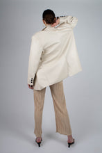 Load image into Gallery viewer, 22921_Ivory vegan leather oversized blazer_MFBBA2