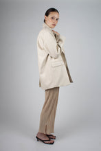 Load image into Gallery viewer, 22921_Ivory vegan leather oversized blazer_MFSBA1