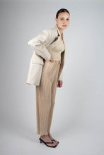 Load image into Gallery viewer, 22921_Ivory vegan leather oversized blazer_MSTBA1