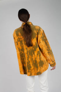 23015_Orange and khaki tie dye tie waist shirt jacket_MCBBA1