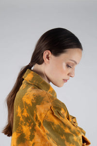 23015_Orange and khaki tie dye tie waist shirt jacket_MDEBA1
