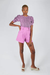 Lilac and black leopard print puff sleeve top_8