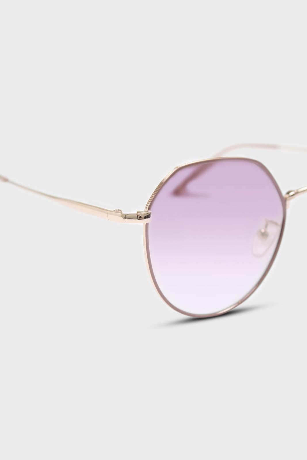 Pink trim dusty pink lens angled aviator sunglasses3