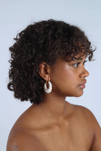 Load image into Gallery viewer, Ivory rope twist hoop earrings_MCSBA1