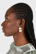 Load image into Gallery viewer, Ivory split circle earrings2
