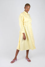 Load image into Gallery viewer, Lemon button front utility maxi dress1