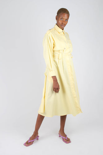 Lemon button front utility maxi dress1