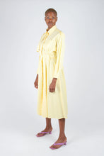 Load image into Gallery viewer, Lemon button front utility maxi dress2