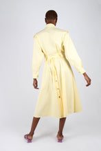 Load image into Gallery viewer, Lemon button front utility maxi dress3