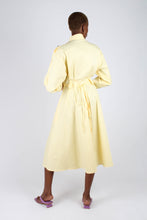 Load image into Gallery viewer, Lemon button front utility maxi dress4