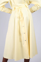 Load image into Gallery viewer, Lemon button front utility maxi dress6