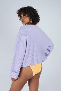 Lilac ribbed long sleeved jumper_MCBBA1
