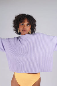 Lilac ribbed long sleeved jumper_MCFBA3